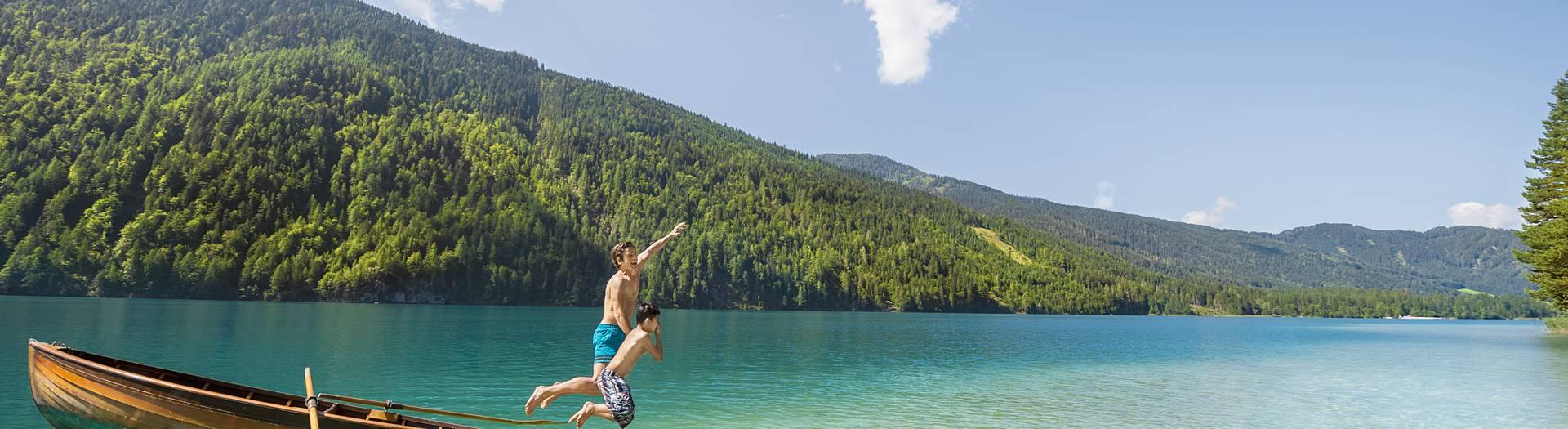 Badespaß am Weissensee