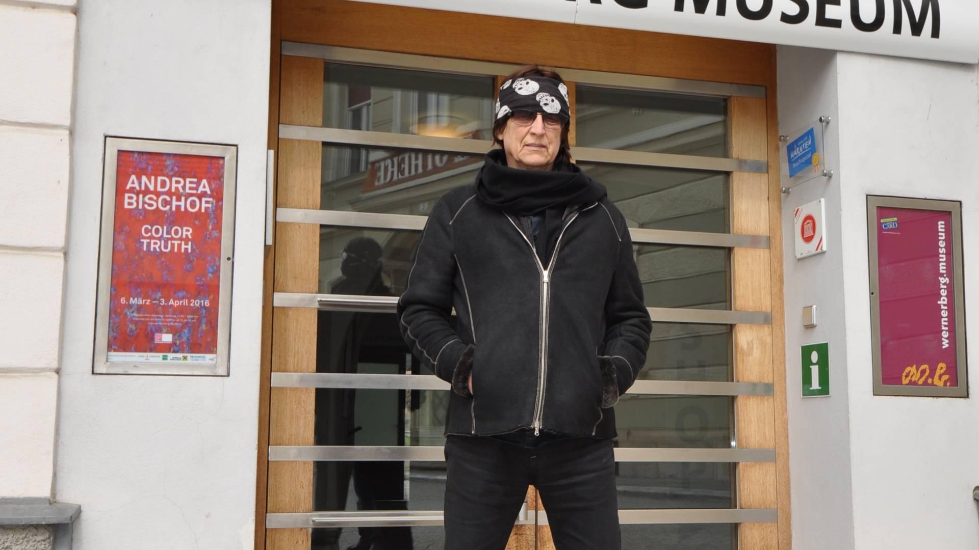 Gottfried Helnwein im Werner Berg Museum in Bleiburg