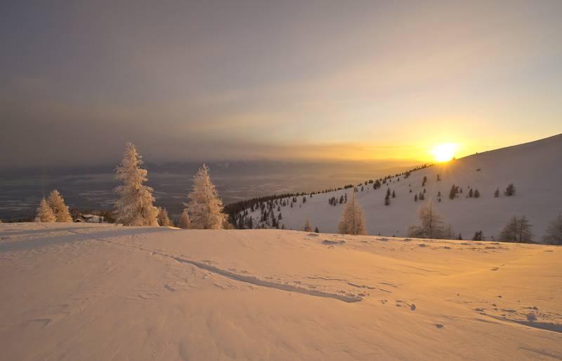 Winterlandschaft Gerlitzen Alpe