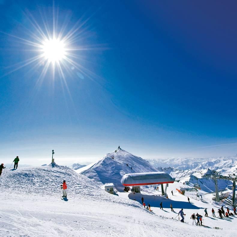 Moelltaler Gletscher Sonnenskilauf