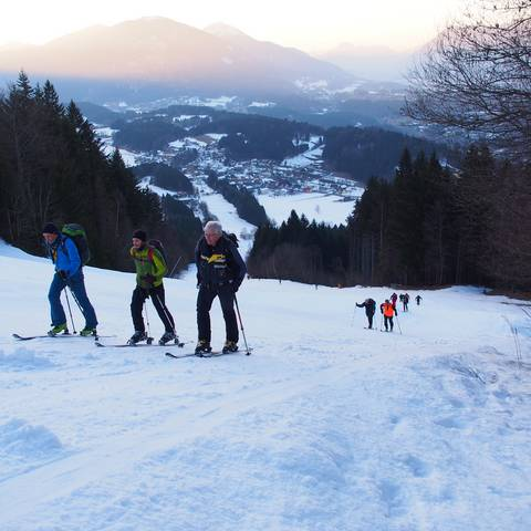 Arnoldstein Skitour aufs Dreiländereck
