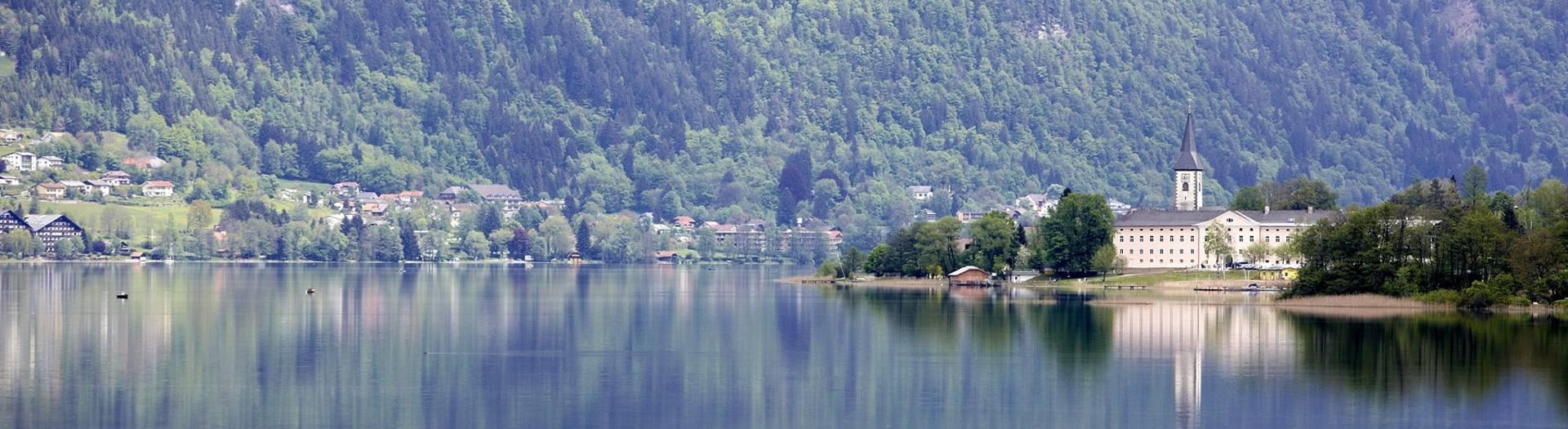 Ossiach mit dem Stift Ossiach in der Region Villach