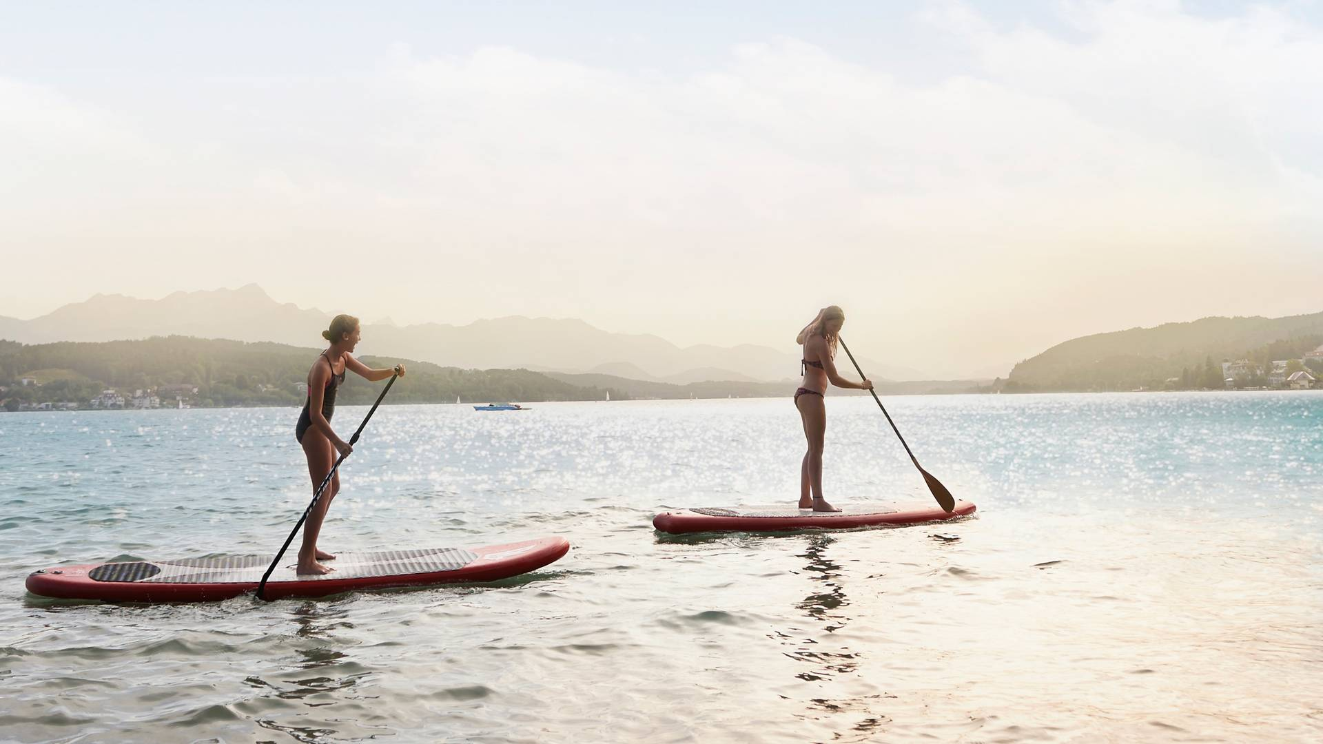<p>Stand up paddling Wörthersee</p>