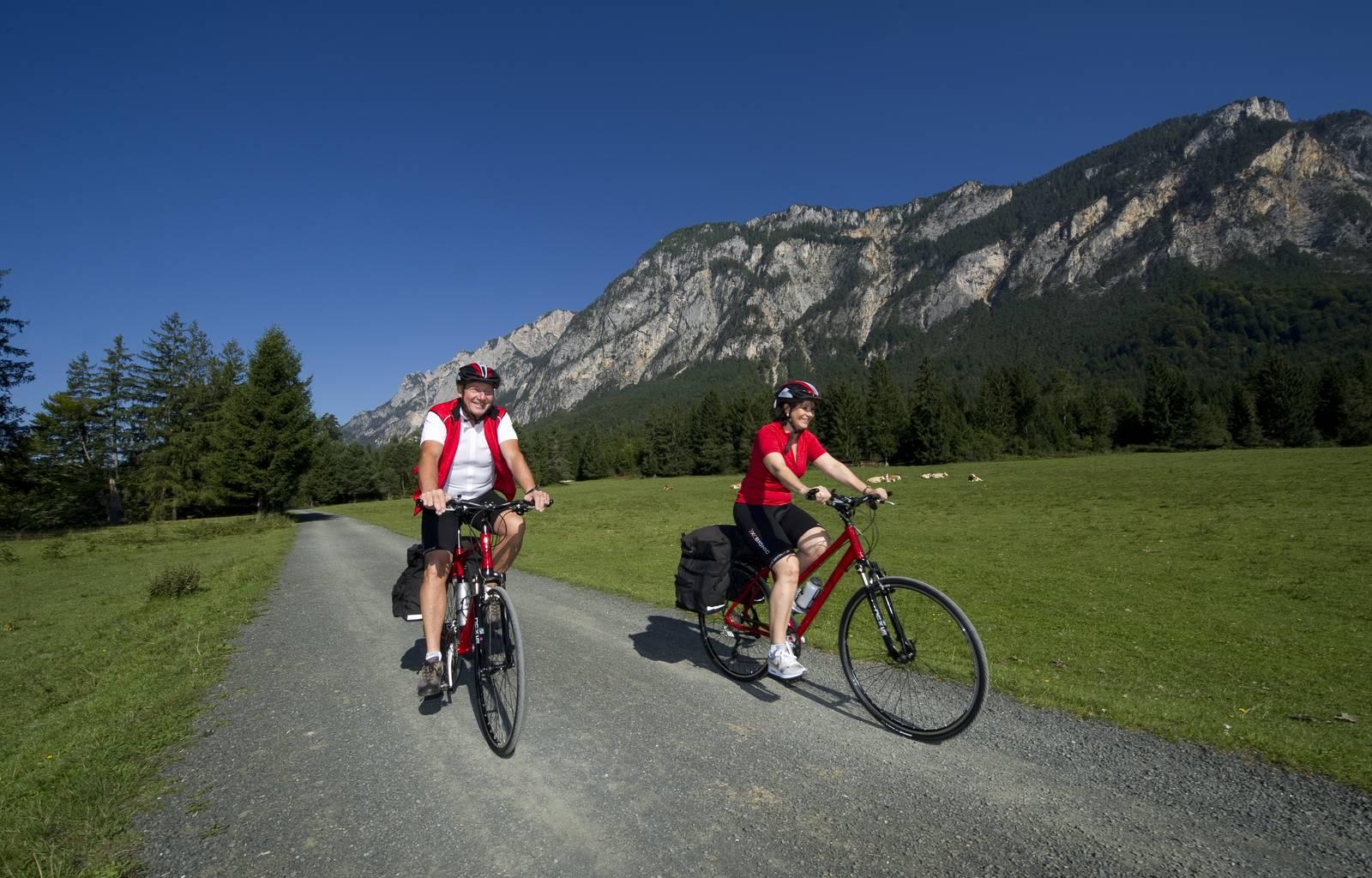 Gemütliches Mountainbiken