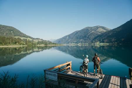 Jezerní biking u Weissensee