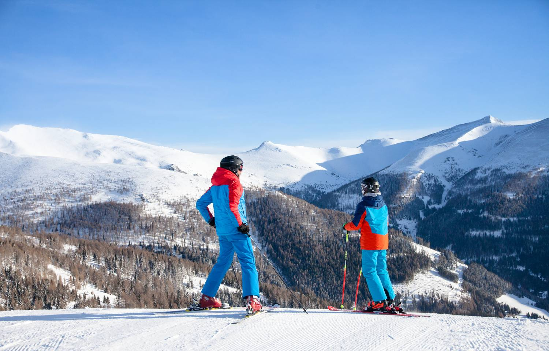 BKK Skifahren Vater und Sohn