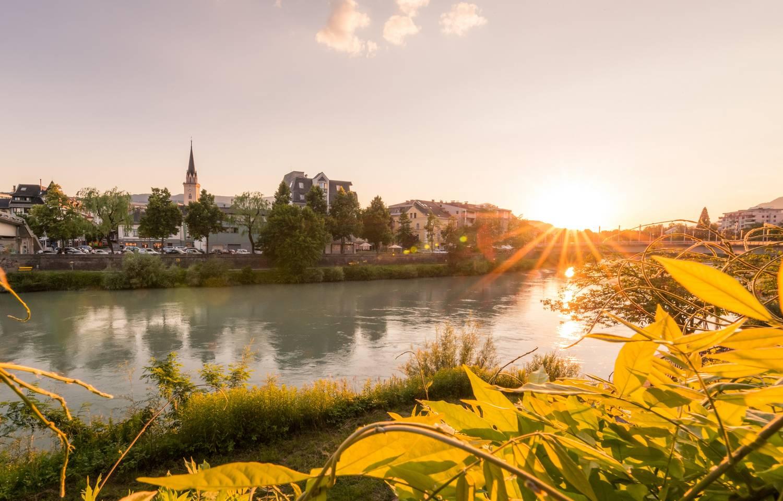 Villach Stadt Sonnenuntergang